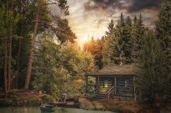 Houtvester Cabin Royalty-vrije Stock Afbeelding