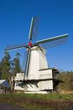 Houtzaagmolen in Dutch Open Air Museum in Arnhem, Netherlands Royalty Free Stock Photo