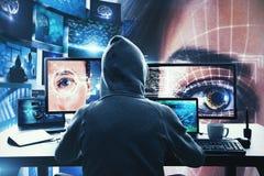 Houwer en malware concept stock foto