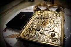 Houx Bibble dans l'autel Photos stock
