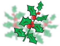 Houx de Noël illustration stock