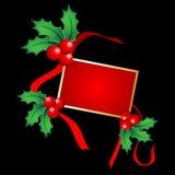 houx de Noël de carte Photo libre de droits