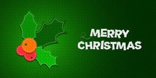 Houx de Noël de vecteur illustration libre de droits