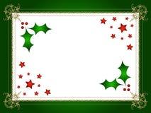 Houx et étoiles de Noël illustration stock