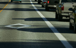 HOV lane Royalty Free Stock Photo