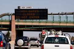 HOV lanes closed Royalty Free Stock Photos