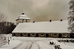Hovdala城堡冬天1 库存照片