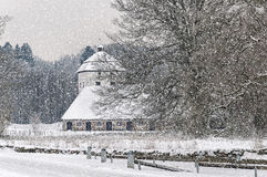 Hovdala Castle Gatehouse in the Snow Royalty Free Stock Images