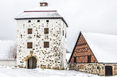 Hovdala Castle Gatehouse in Winter Stock Photo