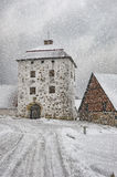Hovdala Castle Gatehouse in Winter Stock Photography