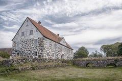 Hovdala Castle From Moat Royalty Free Stock Photos