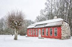 Hovdala Castle Orangery in Winter Royalty Free Stock Photo