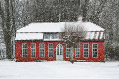 Hovdala Castle Orangery in Winter Royalty Free Stock Images