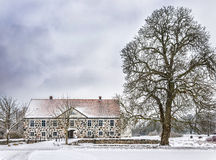 Hovdala Castle in Winter Royalty Free Stock Photography