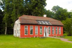 Orangeriet at hovdala castle northen skane. Hovdala is close to hassleholm in northen skane sweden Royalty Free Stock Photography