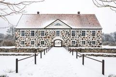 Hovdala-Schloss im Winter Stockfoto