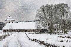Hovdala-Schloss im Winter Stockfotografie