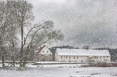 Hovdala-Schloss im Winter Lizenzfreies Stockfoto