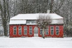 Hovdala-Schloss-Orangerie im Winter Lizenzfreie Stockbilder