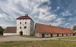 Hovdala Slott Gatehouse and Stables Royalty Free Stock Photography