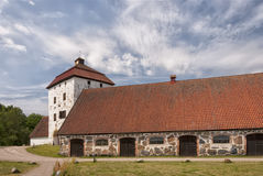 Hovdala Slott Large Stables Royalty Free Stock Images
