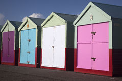Hove Beach Huts stock photos