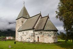 Hove Church. In Vikoyri, Sogn og Fjordane, Norway Stock Photo