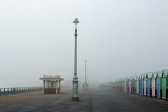 Hove Promenade in Fog Stock Images