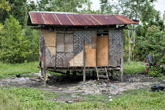 Hovel, shanty, shack in Philippines Stock Photos