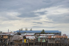 Hovel, shanty, shack in Philippines Stock Photo