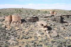 Hovenweep国家历史文物在犹他,美国 免版税库存照片