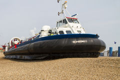 Hover craft turning for departure Royalty Free Stock Photo