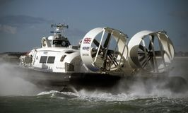 Hover Travel to the Isle Of Wight. Hovertravel to the Isle of Wight from Southsea Portsmouth Royalty Free Stock Images