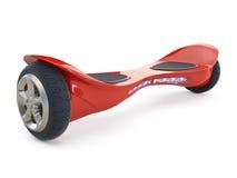 Hoverboard för röd färg på vit Arkivfoto