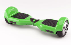 Hoverboard green Stock Image