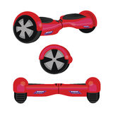 Hoverboard hover board vector wheel device technology vehicle rie illustration red Royalty Free Stock Photo