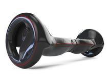 Hoverboard noir de couleur sur le blanc Images stock