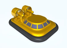 Hovercraft. A rendered image with hovercraft on white Stock Photo