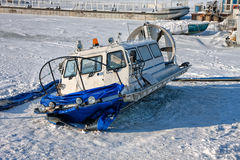 Hovercraft on the bank Stock Photography