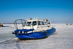 Hovercraft on the bank Royalty Free Stock Photography