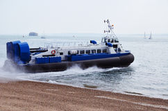 Hovercraft during departure Stock Photos
