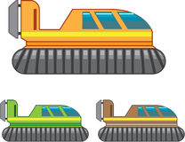 Hovercraft illustration. Vector eps file Royalty Free Stock Images