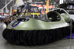 Hovercraft  Neoteric Hovertrek  in the exhibition Crocus Expo in Stock Photos