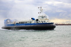 Hovercraft Returning to Portsmouth Royalty Free Stock Photo