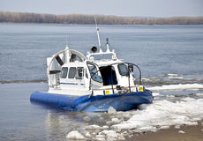 Hovercraft ship Royalty Free Stock Image