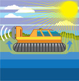 Hovercraft vector file Royalty Free Stock Images