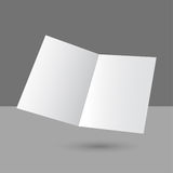Hovering blank two fold paper brochure Stock Photography