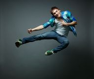Hovering in jump Stock Photography