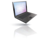 Hovering Laptop Royalty Free Stock Image