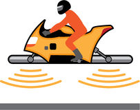 Hovering Motorcycle illustration Stock Photos